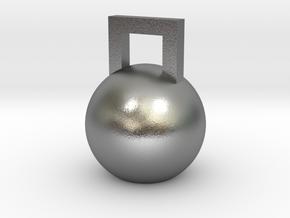 Mini Kettleball in Natural Silver