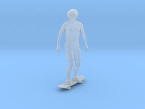 Skateboarding Dan Standing Upright in Smoothest Fine Detail Plastic: 1:64 - S