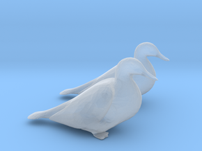 Ducks Mallard Sitting in Smoothest Fine Detail Plastic: 1:64 - S