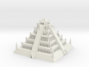 Atlantian Pyramid in White Strong & Flexible: Extra Small