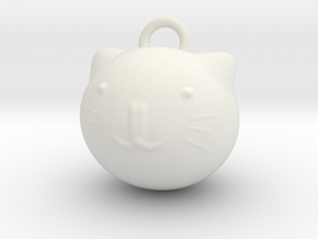 Cat A1 in White Natural Versatile Plastic: Small