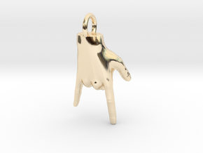 Rock hand in 14K Yellow Gold