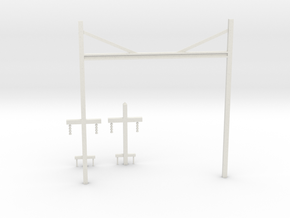 Prr catenary v1 in White Strong & Flexible: 1:87 - HO