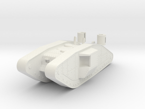 1/100 Trench Tank in White Natural Versatile Plastic