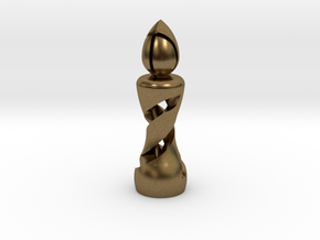 Chess Bishop in Natural Bronze: Medium
