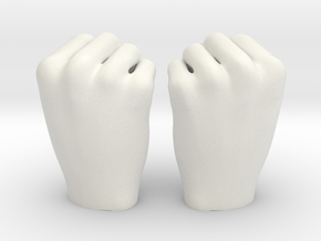 Fists 1:4 scale in White Natural Versatile Plastic