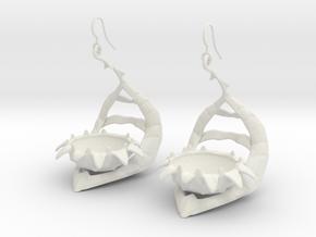 Carnivorous plant earring Planter in White Premium Versatile Plastic
