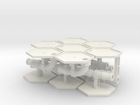 1/285th scale Pipe set (12 pieces) in White Natural Versatile Plastic