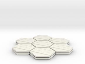 1/285th scale Road set (14 pieces) in White Natural Versatile Plastic