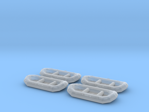 12ft White water raft 01.N Scale (1:160) in Smooth Fine Detail Plastic