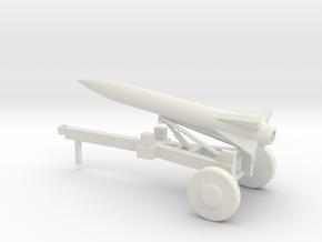1/87 Scale Launce Missile Launcher Trailer in White Natural Versatile Plastic