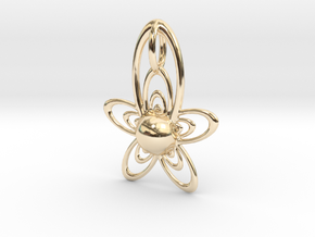 At Pendant in 14K Yellow Gold