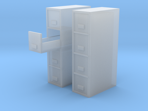 1/64 filing Cabinet 4 drawer in Smooth Fine Detail Plastic