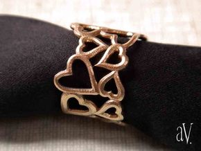 Scatter HeartSmth Ring in Natural Brass: 8 / 56.75