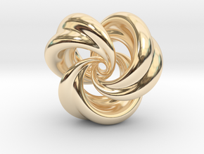Integrable Flow (5, 3) in 14k Gold Plated Brass