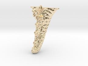 Knobby Starfish Leg Pendant in 14K Yellow Gold