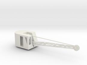 1/87 C666 Corbit Crane Crane in White Natural Versatile Plastic