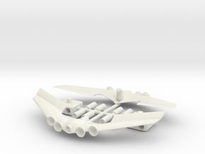 1/24 Asurada GSX Fireball Version Upgrade Parts in White Natural Versatile Plastic