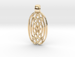 Waves  [pendant] in 14K Yellow Gold