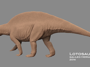 Lotosaurus 1:5 v1 in White Natural Versatile Plastic