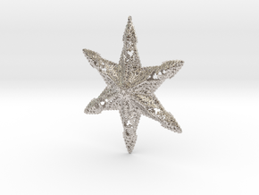 Snowflake A in Rhodium Plated Brass
