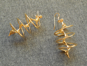 Auger - Earrings in precious metal in 18k Gold Plated Brass