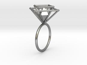 Crazy diamond size 54 in Natural Silver