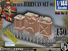 1/144 World War II  Jerrycans Set001 in Smoothest Fine Detail Plastic
