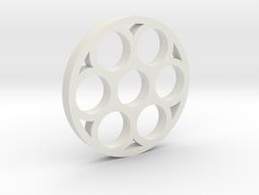 shkr017 - Teil 17 Fenster rund 7fach filigran in White Natural Versatile Plastic