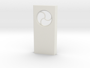 shkr026 - Teil 26 Seitenwand mit Fenster rund goti in White Natural Versatile Plastic