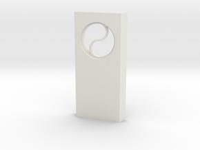 shkr030 - Teil 30 Seitenwand mit Fenster rund goti in White Natural Versatile Plastic