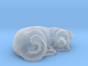 1/64 Dog Sleeping for Diorama in Smooth Fine Detail Plastic