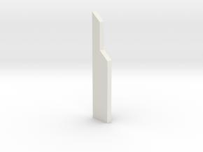 shkr050 - Teil 50 Stützmauerpfeiler voll Höhe in White Natural Versatile Plastic