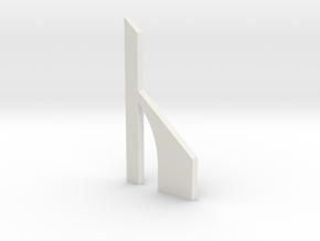 shkr059 - Teil 59 Stützmauerpfeiler breit durchbro in White Natural Versatile Plastic