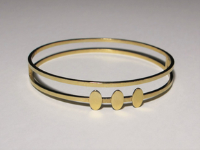 Egyptian Woman Bracelet - SMK in Polished Brass: Small