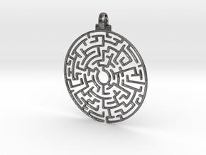 Maze Pendant in Polished Nickel Steel