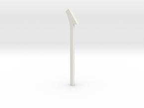 shkr064 - Teil 64 Dachstützbalken hoch mit Auskrag in White Natural Versatile Plastic