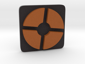 TF2 ® Token: Mercenary (squircle) in Full Color Sandstone