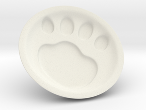Cat soy sauce dish A2 in White Natural Versatile Plastic: Medium