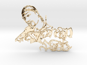 Snoop Doggy Dog Pendant in 14K Yellow Gold
