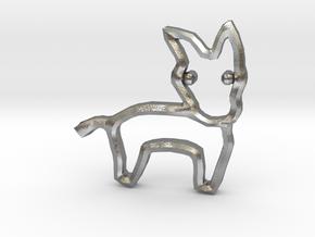 Democrat's Donkey Symbol in Natural Silver