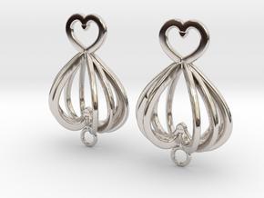 Open Heart Earrings in Precious Metals in Platinum