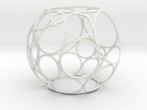 Bowers Circle Packing Ornament - 30 Circles in White Natural Versatile Plastic: Medium