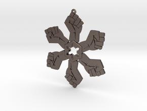 Resist snowflake (2.6 in.) in Polished Bronzed Silver Steel