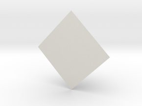 FiddlePyramid in White Natural Versatile Plastic: Extra Small
