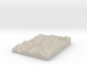 Model of Mikiyun Goth in Natural Sandstone