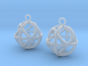 Ball earrings in Smooth Fine Detail Plastic