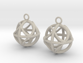 Ball earrings in Natural Sandstone