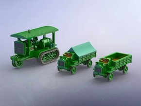 WW I Holt 75 Tractor & FW 3to Trucks 1/144 in Smooth Fine Detail Plastic