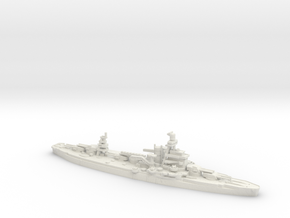 USS Arkansas 1/700 in White Natural Versatile Plastic